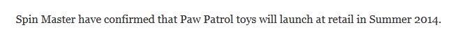 Paw Patrol_Summer 2014