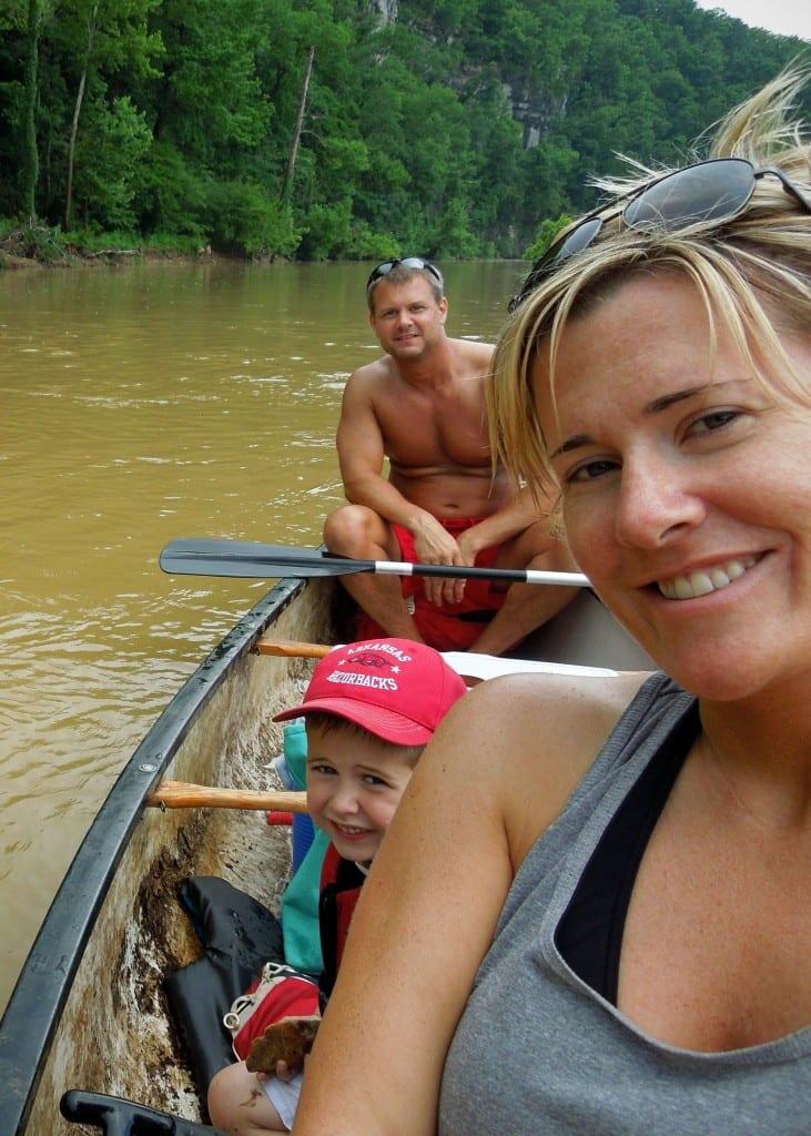 Canoe family selfie!