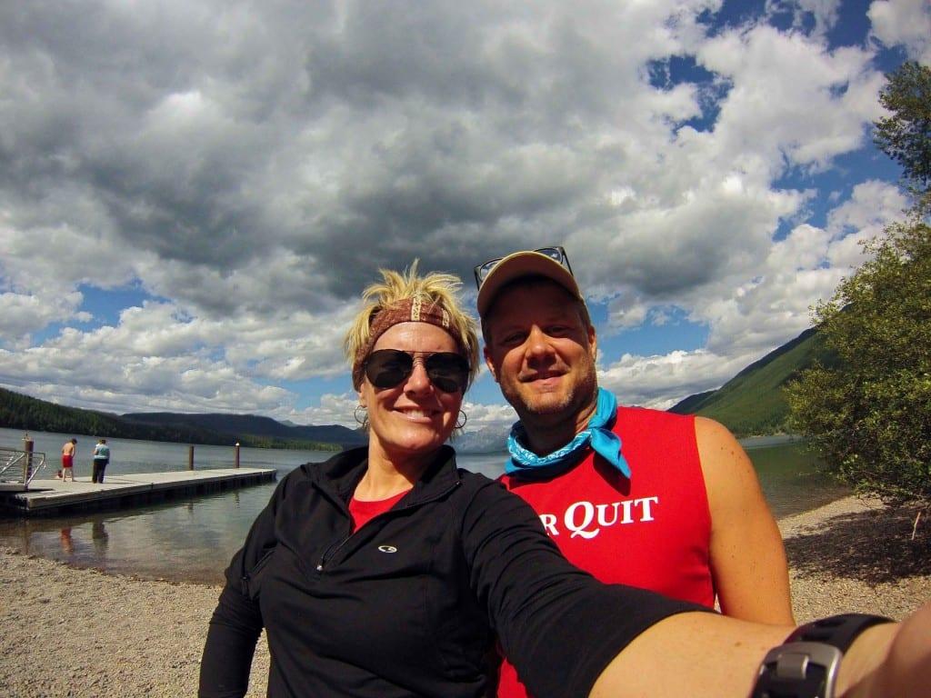 Jeff and Sarah at Lake McDonald