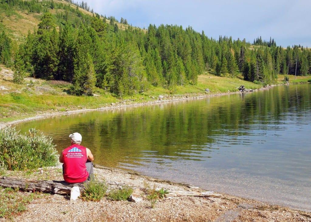 On the banks of Heart Lake