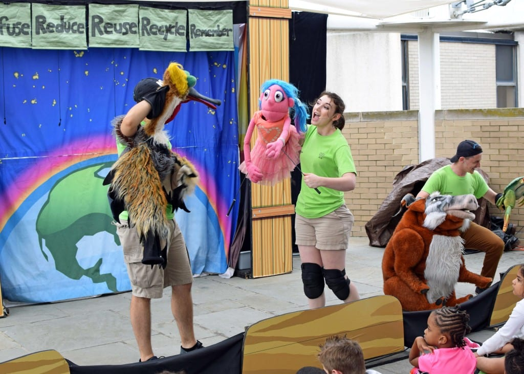 "SO CUTE. A small theater troupe performed a musical called ""Reusable the Musical"" about conservation and protecting the planet"