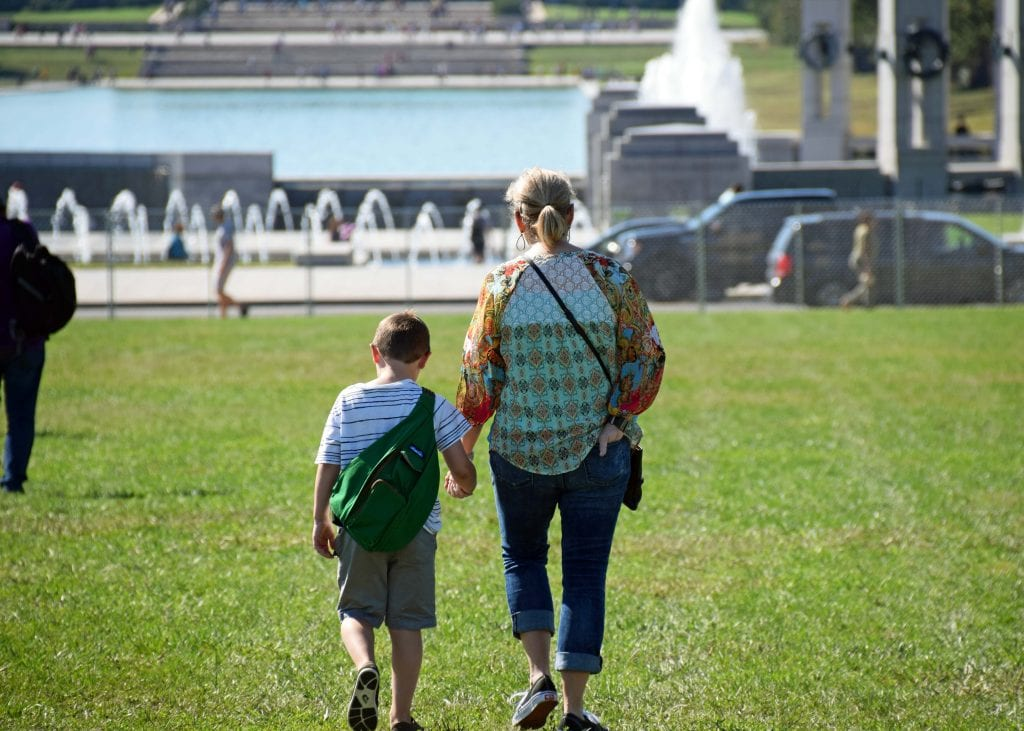 Colt and Aunt Lynn - The National Mall