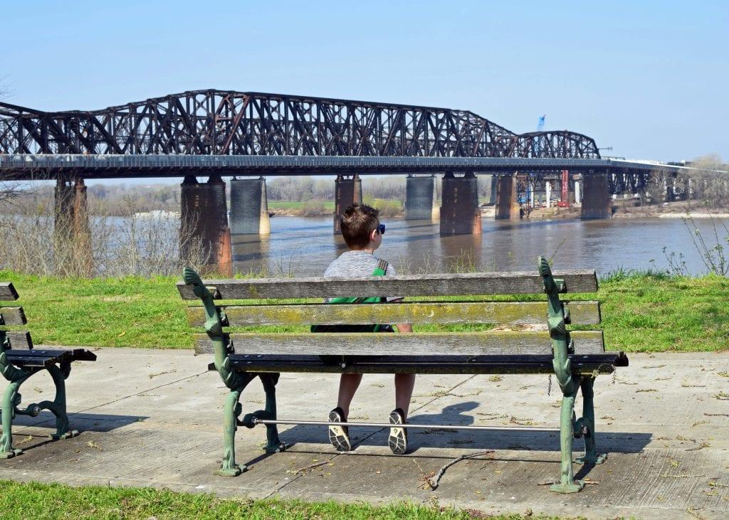 Colt at the Mississippi River