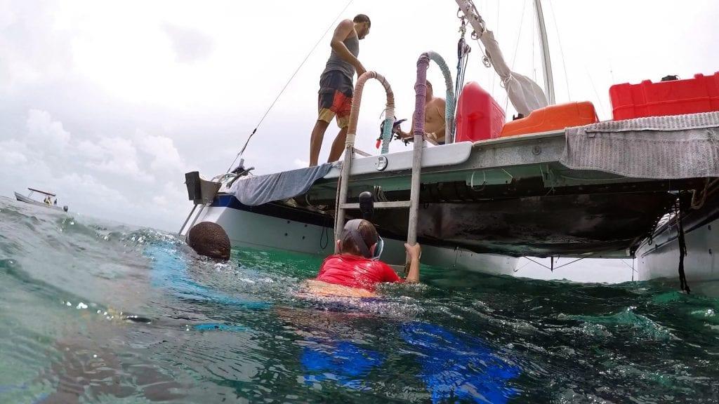 snorkel_colt_climbing boat ladder_edit